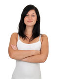 Smiling young woman with crossed arms Stock Photography