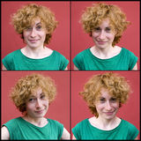 Smiling young woman cute Royalty Free Stock Photos