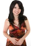 Smiling young woman in dress Royalty Free Stock Images
