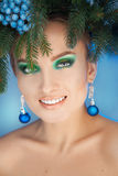 Smiling young woman with healthy skin and nice makeup Royalty Free Stock Images