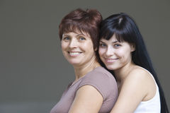 Smiling Young Woman With Her Mother Royalty Free Stock Photos