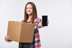 Delivery, relocation and unpacking Stock Photo