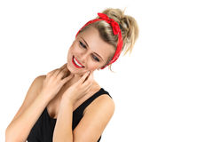 Smiling young woman isolated Royalty Free Stock Images