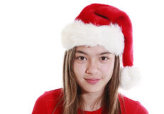 Smiling young woman ith Xmas Hat Stock Photography