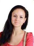 Smiling young woman without make-up Stock Image