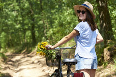 Smiling young woman outdoor Stock Image