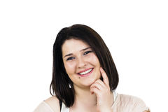 Smiling young woman portrait Stock Photography