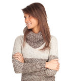 Smiling young woman in sweater Royalty Free Stock Image