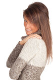 Smiling young woman in sweater Royalty Free Stock Photography