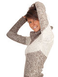 Smiling young woman in sweater Stock Image