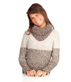 Smiling young woman in sweater Royalty Free Stock Photo