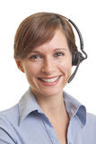 Smiling young woman telemarketer Stock Photography