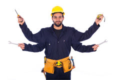 Smiling young worker Royalty Free Stock Photo