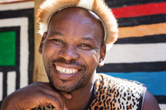 Smiling Zulu tribesman Stock Photo