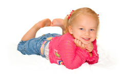 smilling的女婴 库存照片