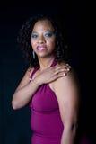 Smilling非洲巴西高级妇女 库存照片