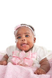 Smilling 6-month old baby girl portrait Royalty Free Stock Image