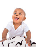 Smilling 7-month old baby boy portrait Stock Image