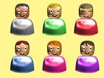 smilling användare för uttryckssymbol stock illustrationer