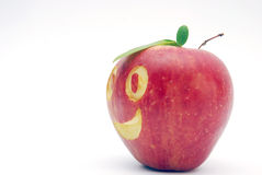 Smilling apple Stock Photography