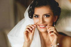 The smilling bride Stock Image
