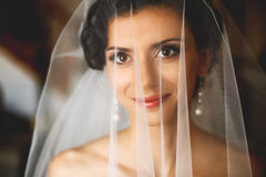 The smilling bride Royalty Free Stock Photos