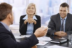 Smiling businesspeople Stock Photos