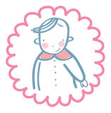 Smilling cheerful baby royalty free stock images