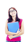 Smilling college student royalty free stock image