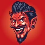 Smilling devil Head. Vector of Smilling devil Head Stock Photos