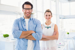 Smilling photo editor posing with arms crossed Stock Image