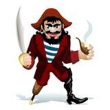 smilling的pirat 免版税图库摄影