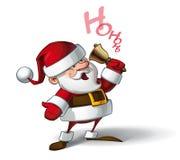 Smilling Santa - Ho Ho Ho. Cartoon vector illustration of a smiling Santa Claus ringing a bell and calling Ho ho ho Royalty Free Stock Image