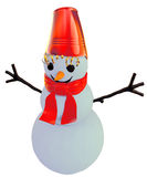 Smilling snowman. As a symbol of winter holidays Stock Photography