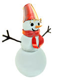 Smilling snowman Royalty Free Stock Photos