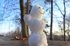 Smilling snowman Royalty Free Stock Photo