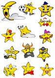 Smilling stjärnor Arkivbilder