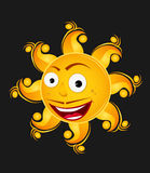 Smilling sun with mustache Royalty Free Stock Photos