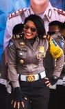 Smillings-Indonesierpolizistinnen Stockbild