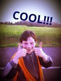 Smillings Koele jongen Royalty-vrije Stock Afbeelding