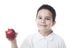 Smillingskind met appel Stock Foto