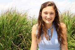 Smilng nastolatek Zdjęcie Royalty Free