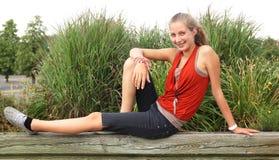Smilng nastolatek Fotografia Royalty Free