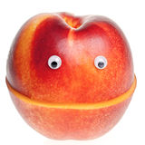 Smilng nectarine Stock Photos