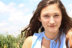 Smilng teenager Royalty Free Stock Photos
