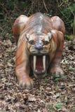 Smilodon. A Prehistoric Smilodon - Extinct Wild Large Cat stock photo
