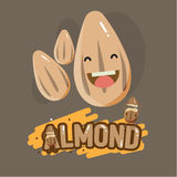 Smily almond character with letter design -  Royalty Free Stock Photo