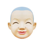 Smily of baby face statue. To isolate with white background Stock Photo