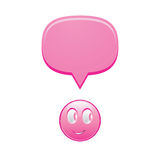 Smily with bubble. Illustration of smiley with bubble Royalty Free Stock Images