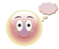 Smily con la bolla di discorso Fotografie Stock